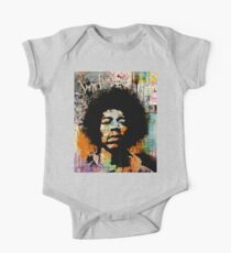 GUITAR GOD #4 on dictionary page Short Sleeve Baby One-Piece