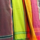 African rainbow kikois by Jeanne Horak-Druiff