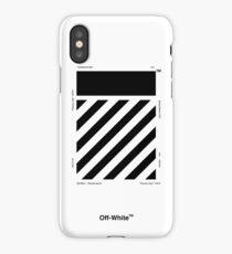 Off-White Diagonals Temperature (Light) iPhone Case