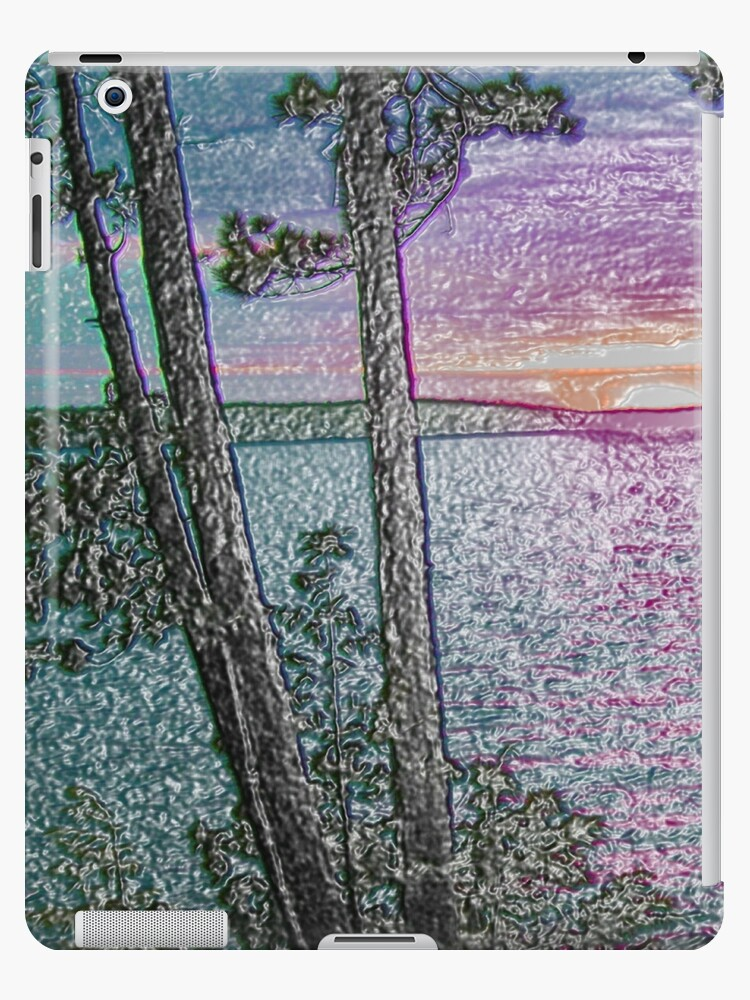 Lake Sunset-Colour Embossed -Available As Art Prints-Mugs,Cases,Duvets,T Shirts,Stickers,etc by born30