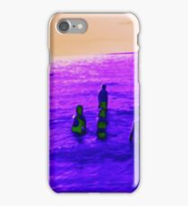 Abstract kids playing in the water iPhone Case/Skin