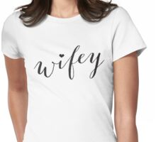 WIFEY W/HEART Womens Fitted T-Shirt