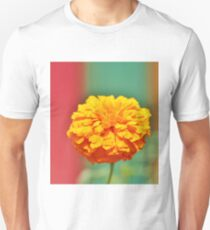Yellow Orange Zinna Unisex T-Shirt