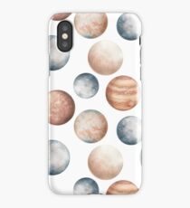 Seamless Pattern of Watercolor Planets iPhone Case