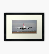 The Qantas A380 Framed Print
