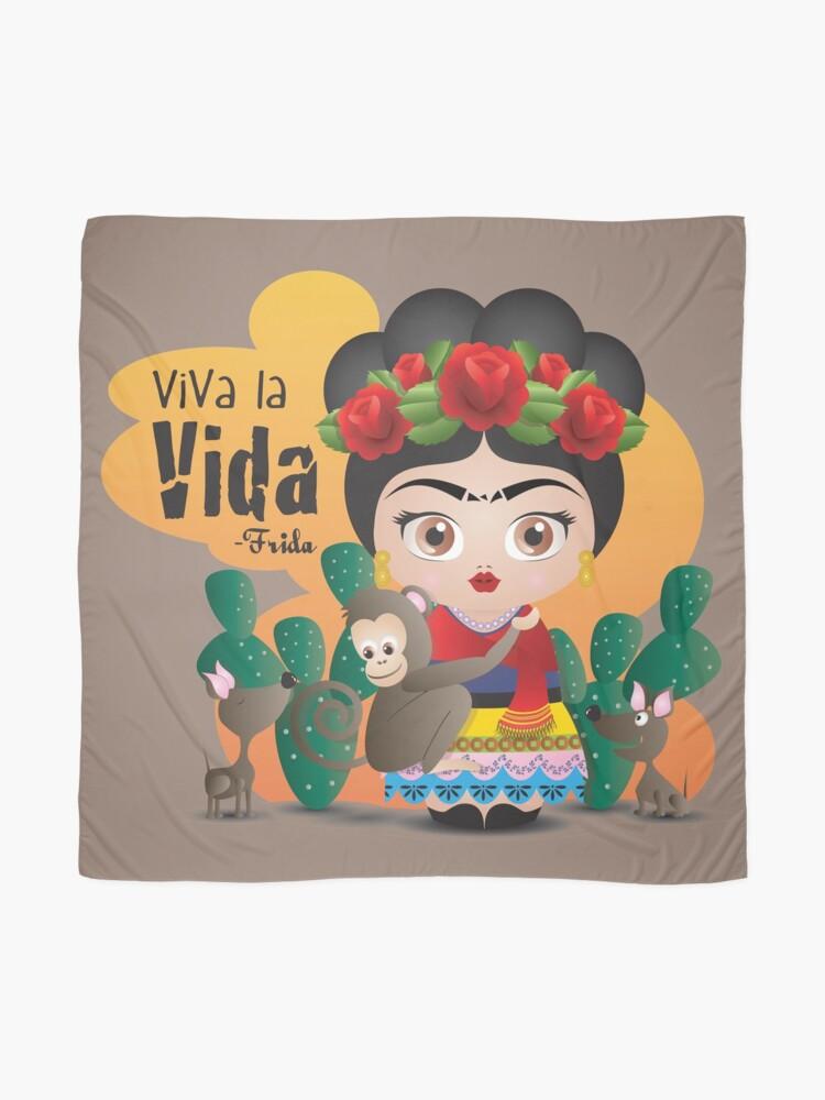 code promo bonne texture magasin discount Frida Kahlo Citations Viva la Vida Mexique | Foulard
