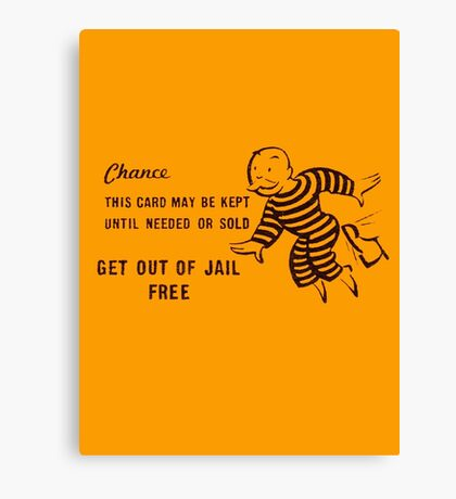 Get Out of Jail Free Canvas Print