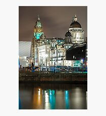 Pier Head Liverppol from The Albert Dock Photographic Print