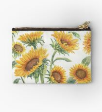 Blooming Sunflowers Zipper Pouch