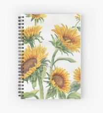 Blooming Sunflowers Spiral Notebook