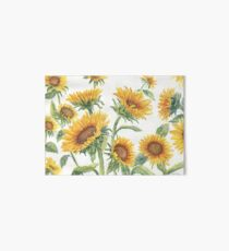 Blooming Sunflowers Art Board