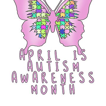 April is Autism Awareness Month with Pink Butterfly by Greenbaby