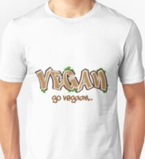 Vegan T Shirt Funny Vegetarian Go vegan Gift Unisex T-Shirt