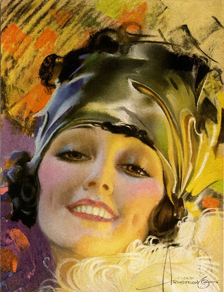 FLAPPER; Vintage Art Deco Beautiful Print by posterbobs