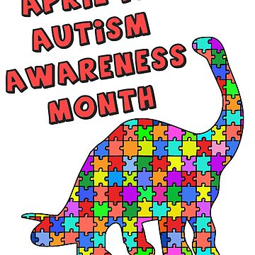 Autism Awareness Month with Dinosaur by Greenbaby
