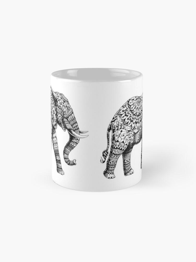 Alternative Ansicht von Verzierter Elefant 3.0 Tassen