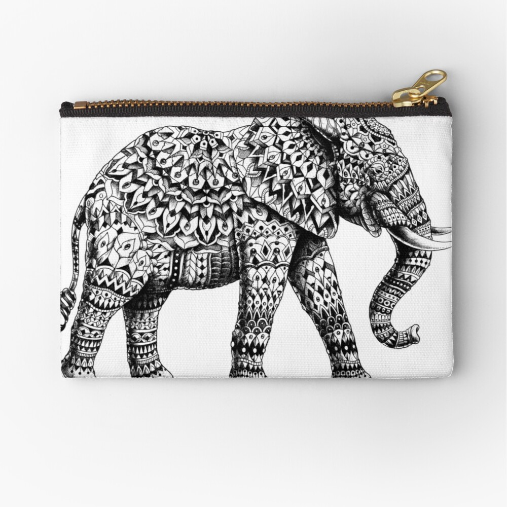 Ornate Elephant 3.0 Zipper Pouch