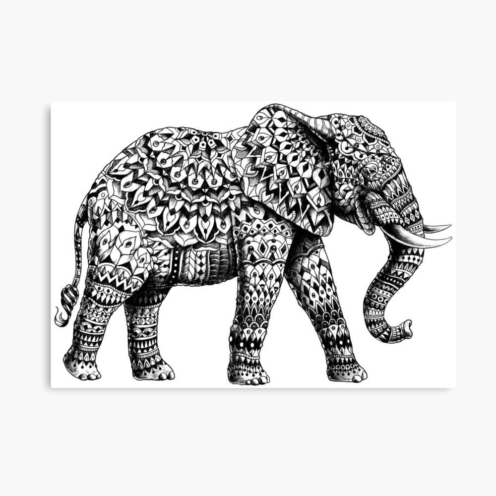 Verzierter Elefant 3.0 Leinwanddruck
