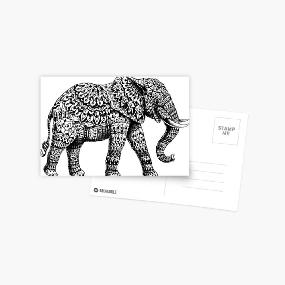 Verzierter Elefant 3.0 Postkarte