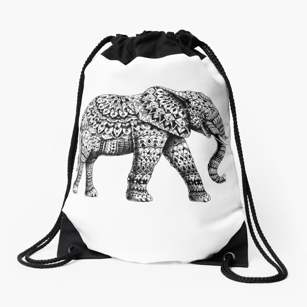 Ornate Elephant 3.0 Drawstring Bag