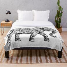 Ornate Elephant 3.0 Throw Blanket