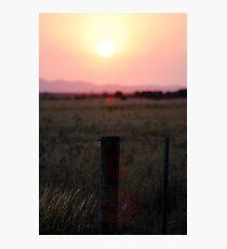 Lens flare sunset. Photographic Print