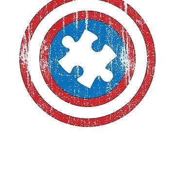 Captain Autism Superhero Shirt Autism Awareness Shirt by T-ShirtTech