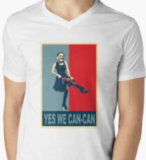 Yes we Can-Can Men's V-Neck T-Shirt