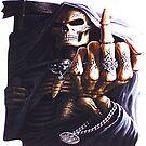 Grim Reaper Flipping finger  by thatstickerguy