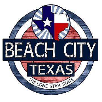 Beach City Texas wood circle by artisticattitud