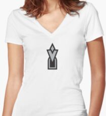 Here! Women's Fitted V-Neck T-Shirt