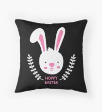 Hoppy Easter Bunny Throw Pillow