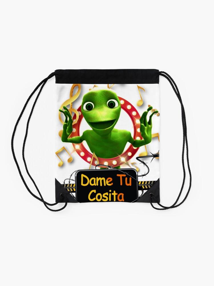 Alternate view of Dame Tu Cosita Challenge Dance Musical T-Shirt  Drawstring Bag