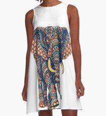Ornate Elephant v2 (Color Version) A-Line Dress