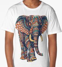 Ornate Elephant v2 (Color Version) Long T-Shirt
