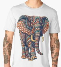 Ornate Elephant v2 (Color Version) Men's Premium T-Shirt