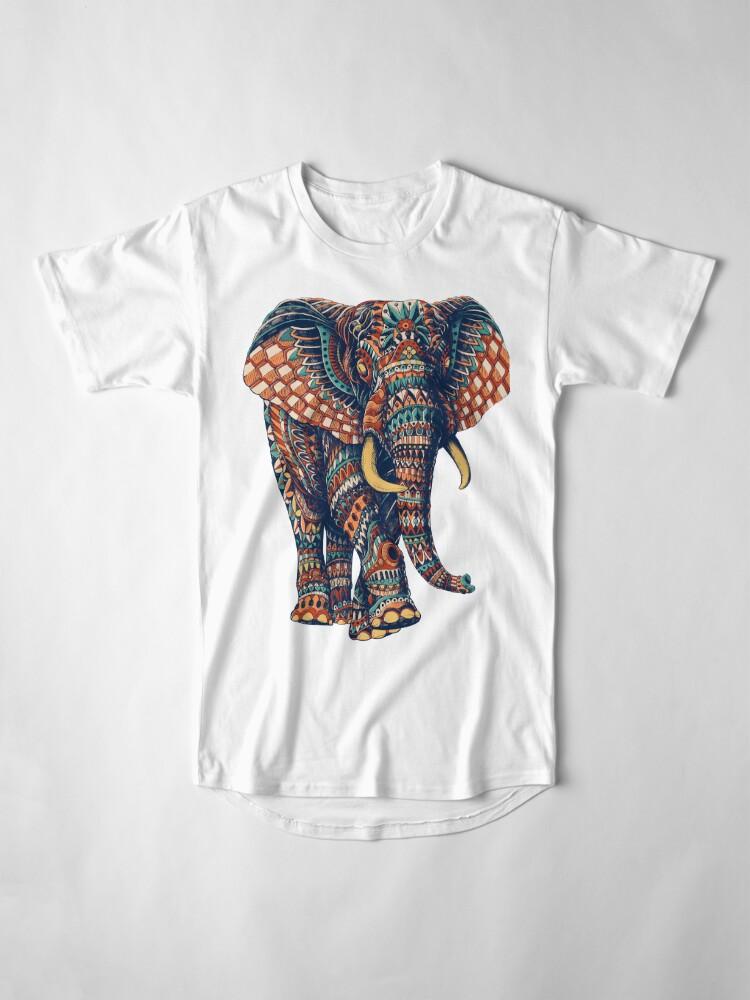 Alternate view of Ornate Elephant v2 (Color Version) Long T-Shirt