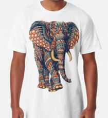 Ornate Elephant v2 (Color Version) Long T-Shirt