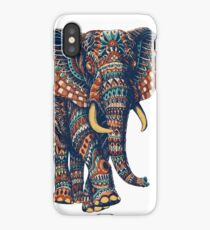 Ornate Elephant v2 (Color Version) iPhone Case