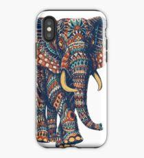 Verzierter Elefant v2 (Farbversion) iPhone-Hülle & Cover