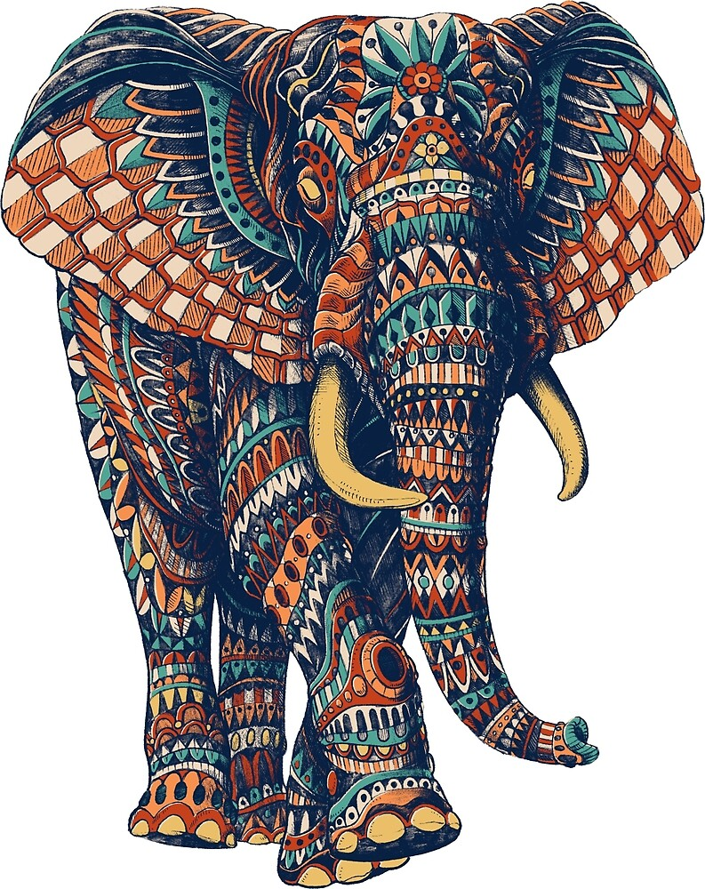 «Ornate Elephant v2 (Versión en color)» de BioWorkZ