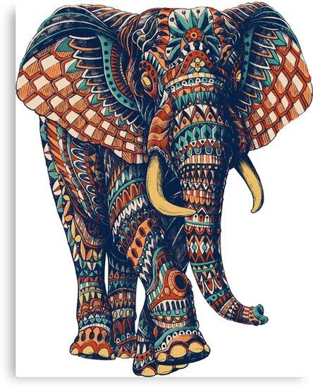 Ornate Elephant v2 (Color Version) by BioWorkZ