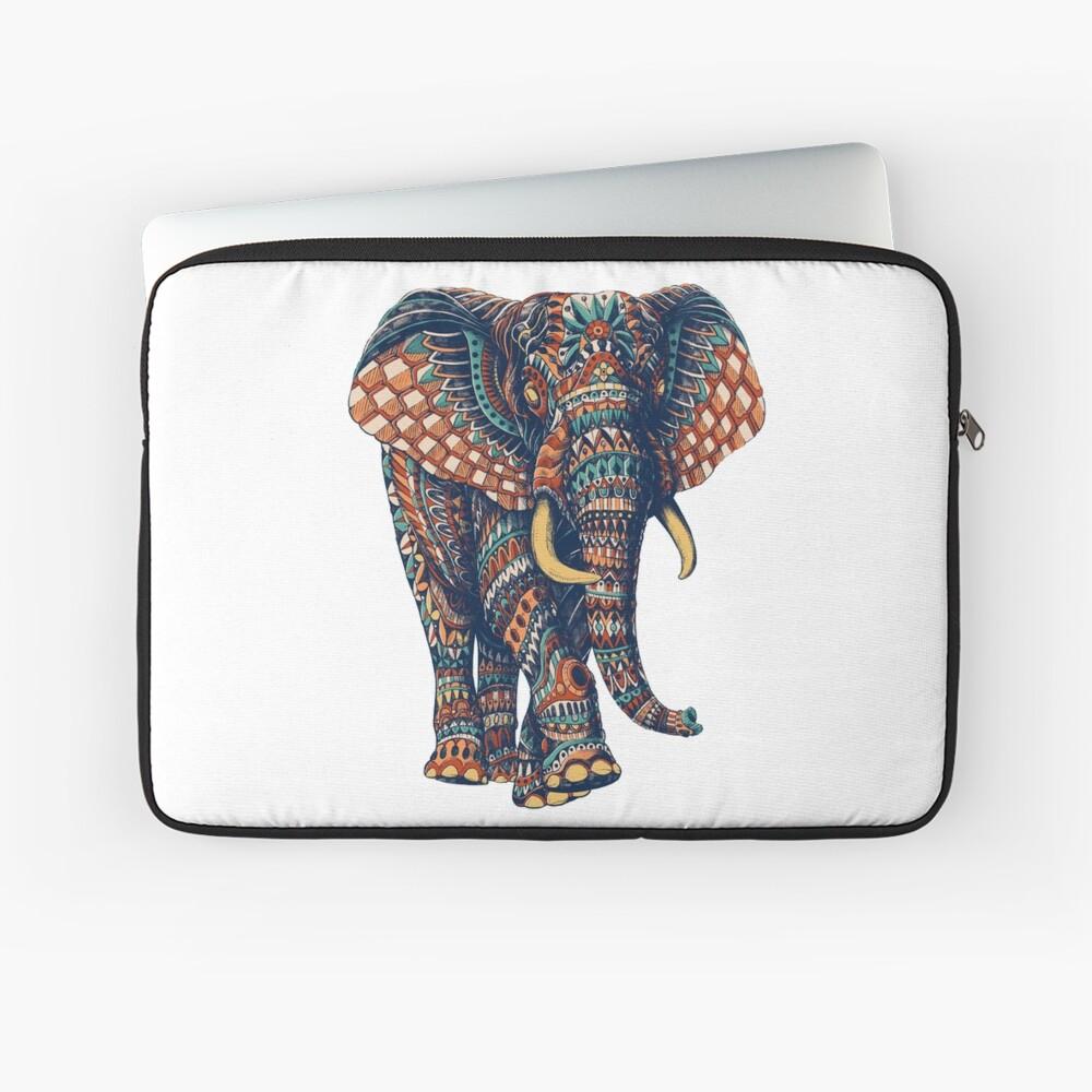 Ornate Elephant v2 (Color Version) Laptop Sleeve