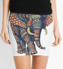 Verzierter Elefant v2 (Farbversion) Minirock