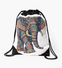 Verzierter Elefant v2 (Farbversion) Rucksackbeutel