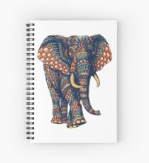 Ornate Elephant v2 (Color Version) Spiral Notebook