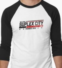 SUPLEX CITY, USA - Black Men's Baseball ¾ T-Shirt
