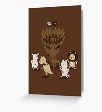 Game Of Musical Thrones Greeting Card