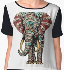 Ornate Elephant (Color Version) Chiffon Top