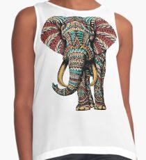 Verzierter Elefant (Farbversion) Ärmelloses Top
